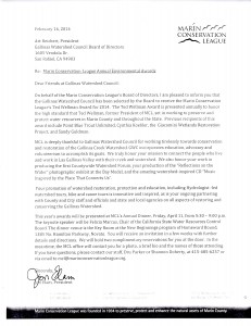 Marin Conservation League Ted Wellman Award
