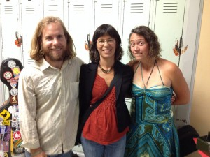 Watershed CD producer Carla Koop with Sharon Martinson and David Huebner of the Littlest Birds