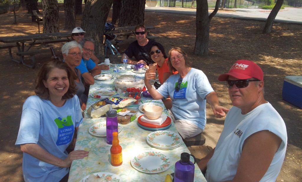 BIKE THE WATERSHED 5 picnic by the Civic Center lagoon