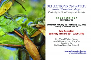 Invitation to 2013 Creekwalker Photography Exhibit at Bay Model Sausalito