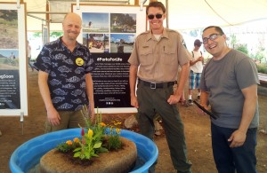 CCWR demonstration of Floating Island Biofilter at Marin County Fair 2015